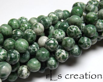 Tree Agate 8mm Rounds 16IN Strand