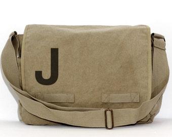Messenger Bag, Monogrammed Bag, Personalized Bag, Initial Bag, Crossbody Canvas Bag, Personalized Groomsmen Gift, Women Men Messenger Bag,