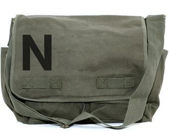 Messenger Bag, Monogrammed Bag, Personalized Bag, Initial Bag, Crossbody Bag, Personalized Diaper Bag, Men & Women Messenger Bag, Helvetica