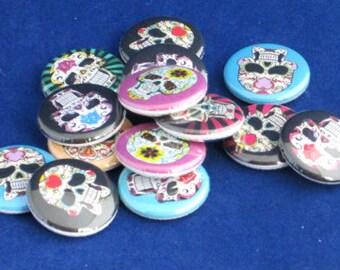 10 Sugar Skull Buttons