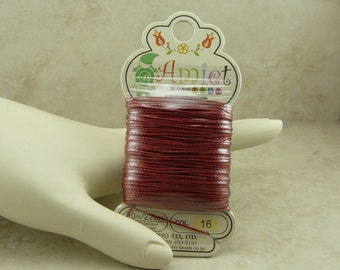 Amiet Polyester Thread Cord by TOHO - Color 16 Mahogany 20m 22yds - For jewelry design - I ship Internationally