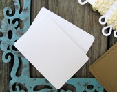 20 Blank Artist Trading Cards Earrings Cards in White or Kraft for Invitations, Labels, Gift Tags, Thank You Card