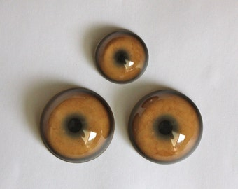 Set of 3 Mountain Lion Eyes to use in the 3-Eyed Crow mask