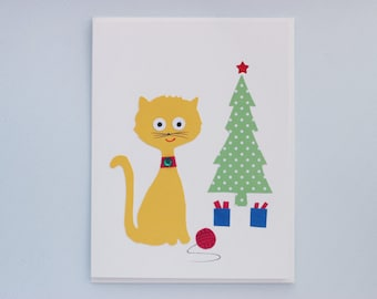 A Meow-y Christmas - print card by Emily Lin
