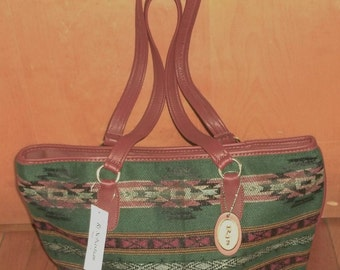 Navajo inspired tote bag