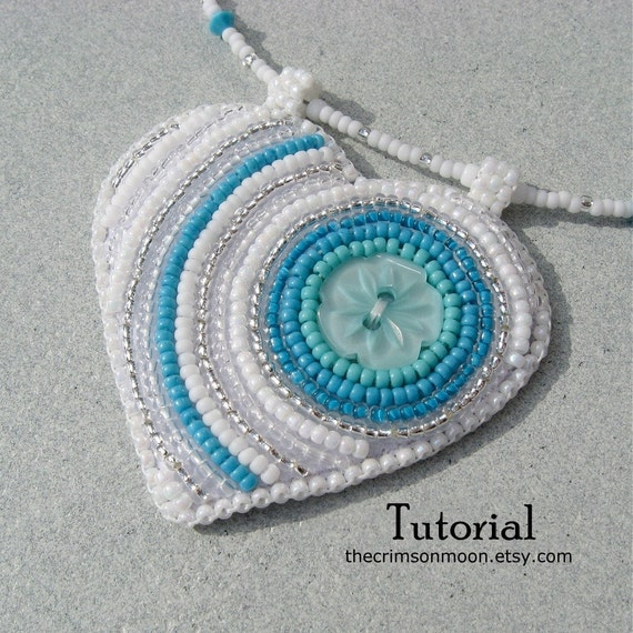 Items similar to bead embroidery tutorial button heart