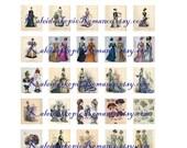 Dollhouse Miniature Fashion Pages - Printable Digital