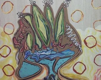 Acrylic Painting on Luan Panel