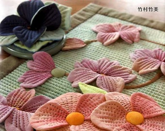 Floral Patchworks and Appliques - Japanese Craft Pattern Book