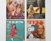 Lot of 1960s TEEN MAGAZINE 4 issues 1966 1968 1969