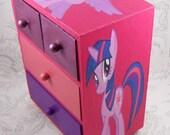 Custom Twilight Sparkle Pink and Purple Stash Jewelry Box