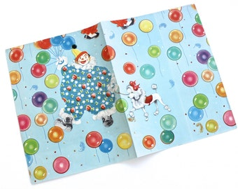 Vintage Circus Clowns and Balloons Gift Wrap