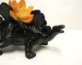 Jurassic Black Dinosaur Theme Birthday Favor or Gift Dimosaur Planter