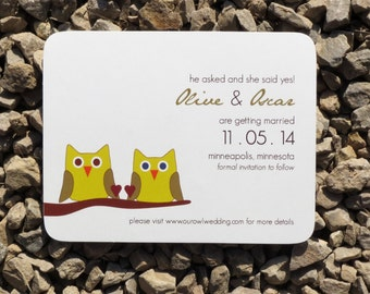 Save the Date Owls Modern Save the Date  - Deposit