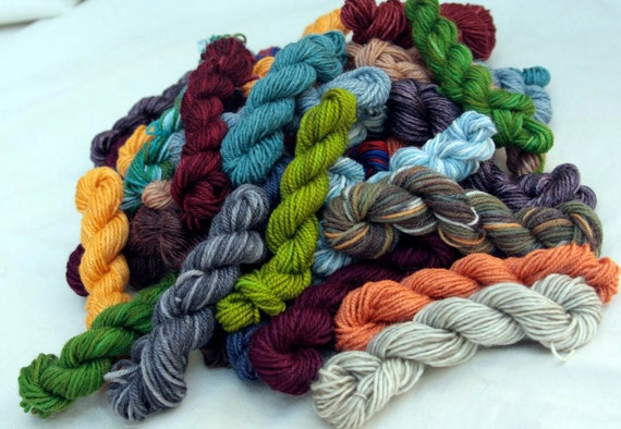 Luxury Sock Yarn Mini Skein Grab Bag 100 by handmadebystefanie