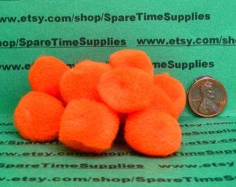 """Fibre Craft - 1574-12 Pom Pom - orange - 3/4"""" (20mm) - 36 pcs"""