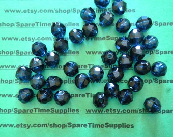 Darice - 06119-1-T34 Faceted Bead - transparent country blue - 12mm - 72 pcs