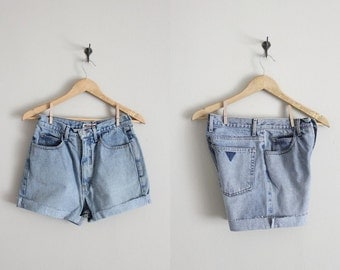 cut off shorts / Guess jean shorts / high waist denim shorts
