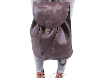 Vintage Brown Coach Back Pack Book Bag