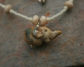Elephant ...art glass animal necklace...Phanny...by Simply Cindy