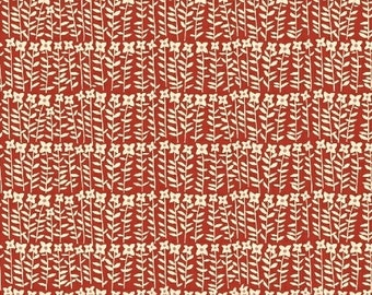 SALE - Petite Fleurs - For Windham Fabrics - Flower Stalks - Red - 1 Yard - 6.95 Dollars