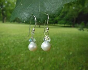 Freshwater Pearl & Swarovski Crystal Earrings
