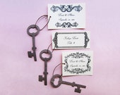 125 Unique Wedding Favors Seed Paper Keys Place Cards - Skeleton Key Seed Wedding Favors - Alice in Wonderland Place Card