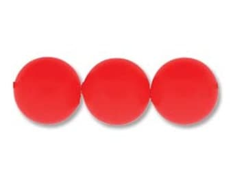 Swarovski Elements Crystal 5810 Neon Red Pearl Beads