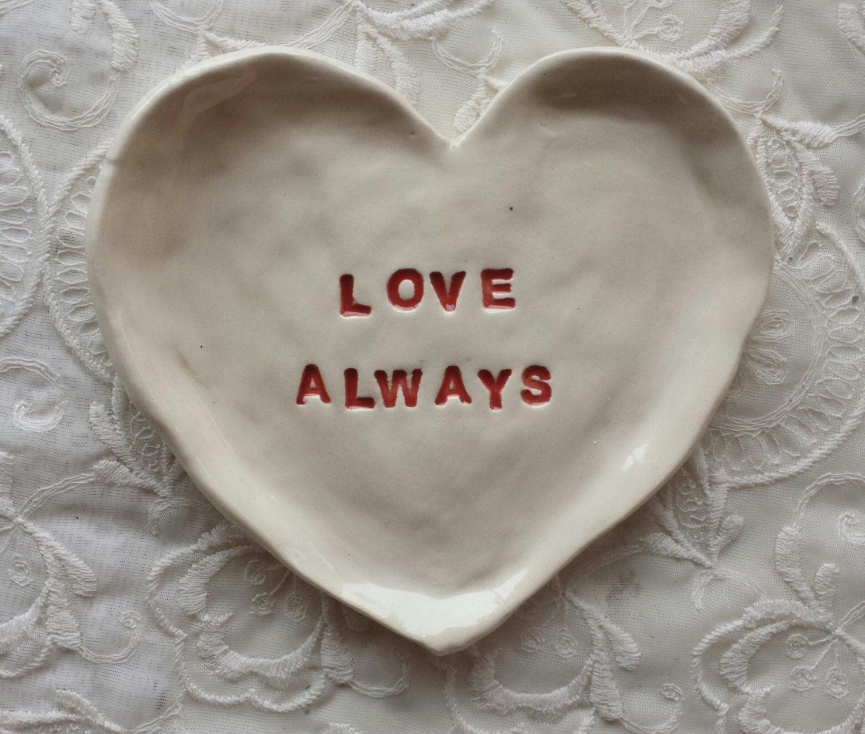 Trinket dish love heart shaped dish trinket dish jewelry dish for Heart shaped jewelry dish