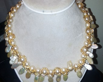 Pearly Girly Beaded Necklace Tutorial