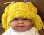 Cabbage Patch Beanie Cabbage Patch Wig in Golden Blonde - all sizes newborn to adult-photo prop