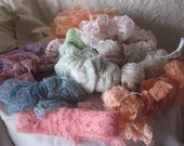 assorted lace trims, vintage and new