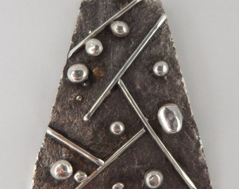 Dots and Lines Sterling Silver Pendant