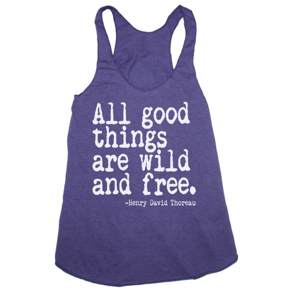 Womens ALL GOOD THINGS are Wild and Free Tri-Blend Racerback Tank Top