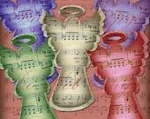 INSTANT Download Vintage Angels Music Sheet Christmas Ephemera Tags Digital Clipart Buy 1 Get 1 FREE