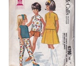 Vintage Sewing Pattern 1963 McCalls 6790 Girls Sports Separates Top Skirt Pants Shorts size 10