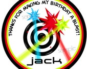 Laser Tag Stickers, Laser tag Birthday Party,  Laser tag favor Labels, girls, boys,Tags, Seals, Favor Stickers