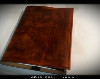Large Brown Leather Book Journal Weathered Rustic Look  Plus Free Custom Stamping