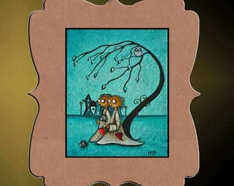 Whimsical Creeper Art Print  -- Art  Print Giclee - Before Dark