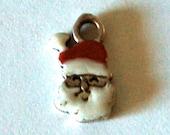 Vintage Sterling Christmas Santa Claus Charm