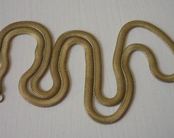 Vintage Brass Snake Chain Necklace Blank