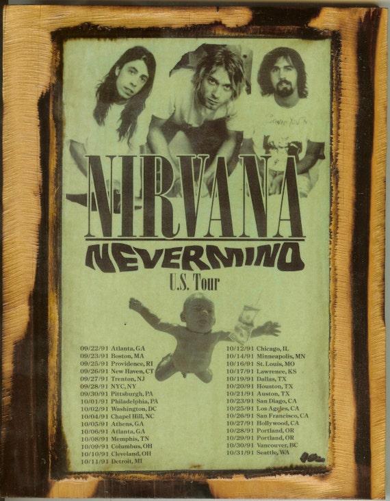 Nirvana Concert Poster Wooden Plaque
