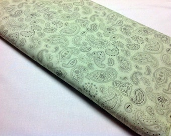 Flutter By Two Friends Pailsley Pale Green Benartex Quilting and Sewing Fabrics