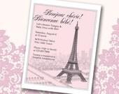 Paris/French Baby/Bridal Shower Invitation (printable)
