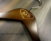 Engraved Dress Hangers Initials Inside Heart No Wire Personalized Wedding Photo Props