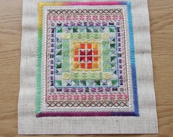 Rainbow Cross Stitch Artwork