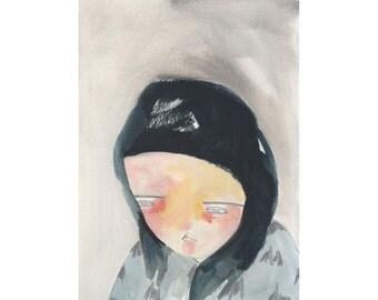 original painting on paper-lost her spirit