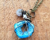 Of the Earth Brass & Druzy Necklace