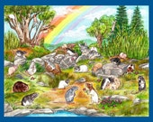 The Rainbow Garden, Sympathy Card for Pet Rat Lovers