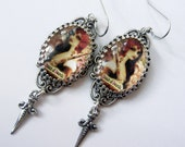 Queen of Swords -  Tarot Earrings - For Those with a Low Tolerance for Stupid